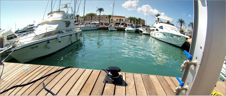 Moorings in Formentera